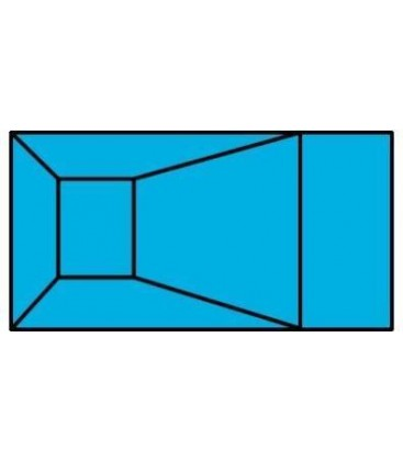 """8 X 16 6"""" Radius Rectangle Wood Wall Inground Pool Kit"""