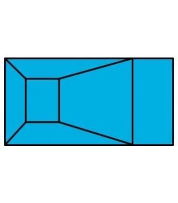 """20 X 40 6"""" Radius Rectangle Wood Wall Inground Pool Kit"""