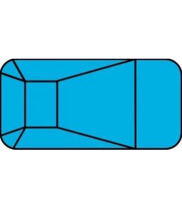 10 X 20 2' Radius Rectangle Steel Wall In-ground Pool Kit Do it Yourself