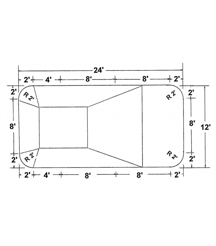12 x 24 2 39 rectangle steel wall inground pool kit do it - Do it yourself swimming pool kits ...