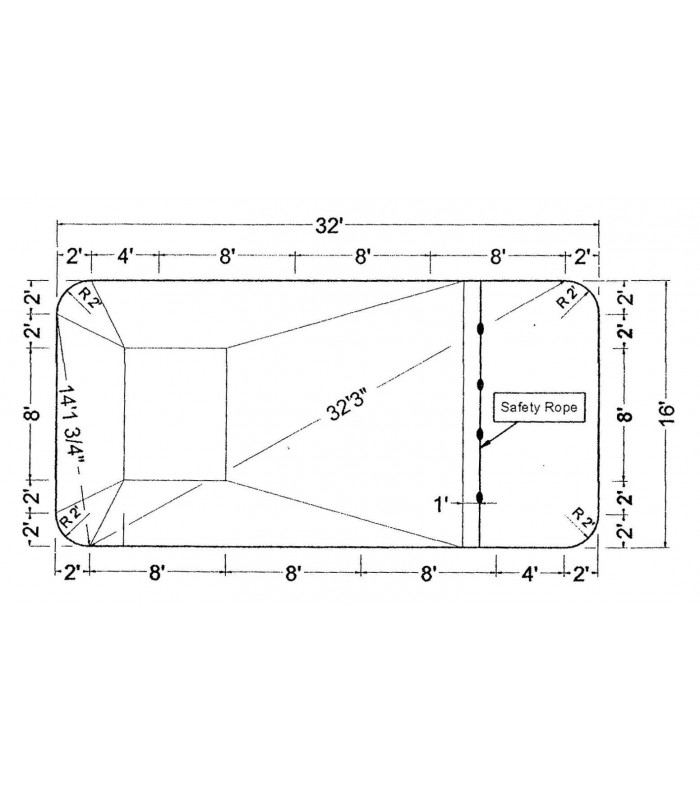 16 x 32 2 39 rectangle steel wall in ground pool kit do it - Do it yourself swimming pool kits ...