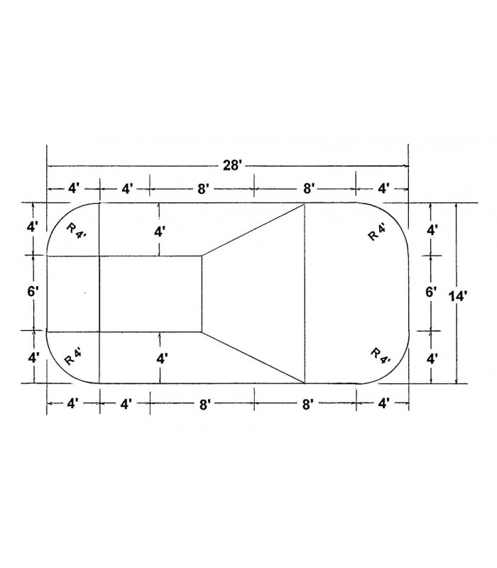 14 39 x 28 39 rectangle steel wall in ground pool kit do it - Do it yourself swimming pool kits ...