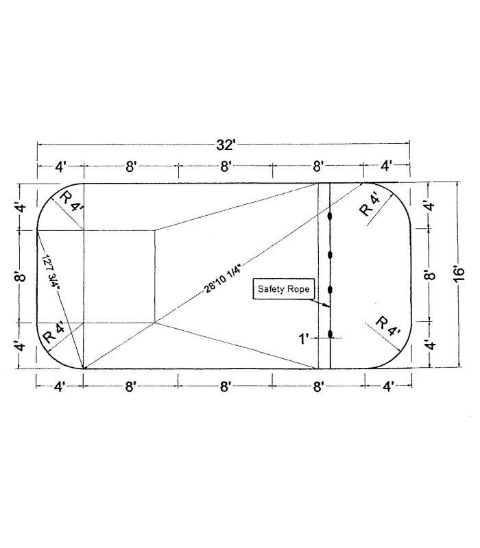 16 39 x 32 39 rectangle steel wall in ground pool kit do it - Do it yourself swimming pool kits ...