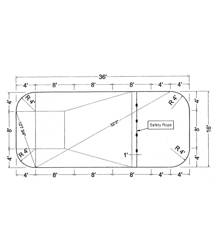 16 39 x 36 39 rectangle steel wall in ground pool kit do it - Do it yourself swimming pool kits ...