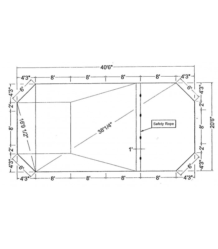 20 6 x 40 6 grecian steel wall in ground pool kit do it - Do it yourself swimming pool kits ...