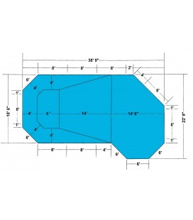 18-6 X 38-9 Grecian Lazy L Steel Wall In-ground Pool Kit