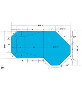 20-9 X 44-6 Grecian Lazy L Steel Wall In-ground Pool Kit