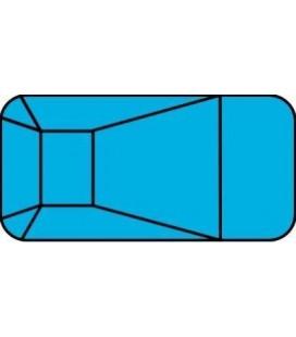12 X 24 2 Ft Radius Rectangle Polymer Wall Inground Pool Kit