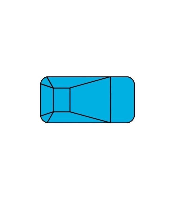 12 X 24 2 Ft Radius Rectangle Polymer Wall Inground Pool Kit By Precision Pools Atlantic Pool Supply Pool Kits