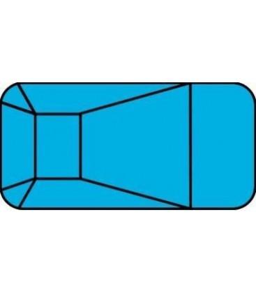 20 X 40 2 Ft Radius Rectangle Polymer Wall Inground Pool Kit