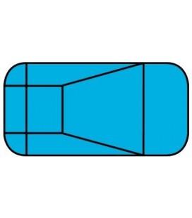 18 X 36 4 Ft Radius Rectangle Polymer Wall Inground Pool Kit