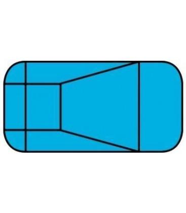 20 X 40 4 Ft Radius Rectangle Polymer Wall Inground Pool Kit