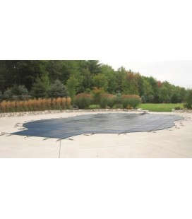 Merlin Safety Cover 14X28 w 4X8 Step Dura-Mesh Inground Swimming Pool