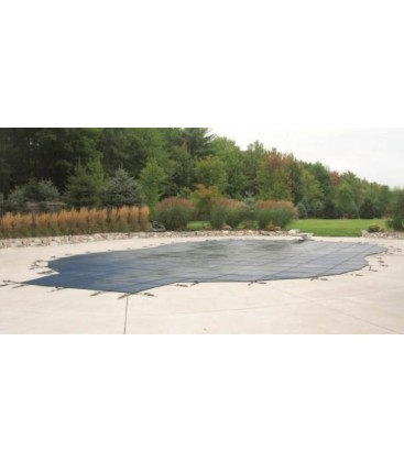 Merlin Safety Cover 16X32 w 4X8 Step Dura-Mesh Inground Swimming Pool
