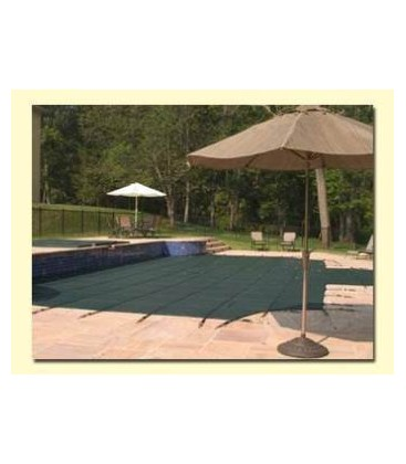 Merlin Safety Cover 16X32 w 4X8 Step SmartMesh Inground Swimming Pool