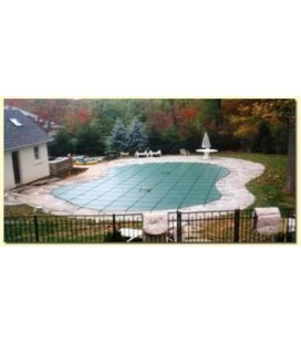Merlin Safety Cover 14X28 w/ step Solid XLS Inground Swimming Pool