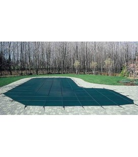 GLI 18X36 W/ 4X8 Step Secur-A-Pool Mesh Swimming Pool Safety Cover