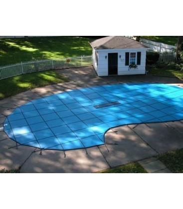 GLI 16x32 W/ 4X8 Step Secur&Clean Mesh Swimming Pool Safety Cover