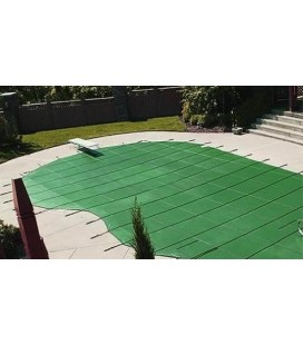 GLI 20X40 W/ 4X8 Step ProMesh Swimming Pool Safety Cover