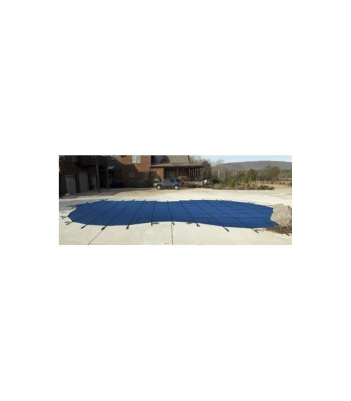 Tara covers 18x36 w 4x8 step solid inground swimming pool - Swimming pool safety covers inground ...