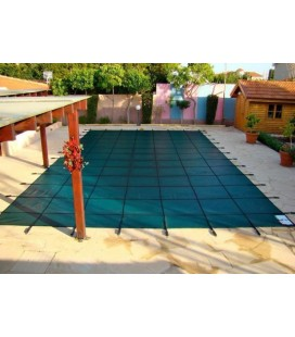 Tara 14x28 w 4X8 Step Standard Mesh Inground Swimming Pool Safety Cover