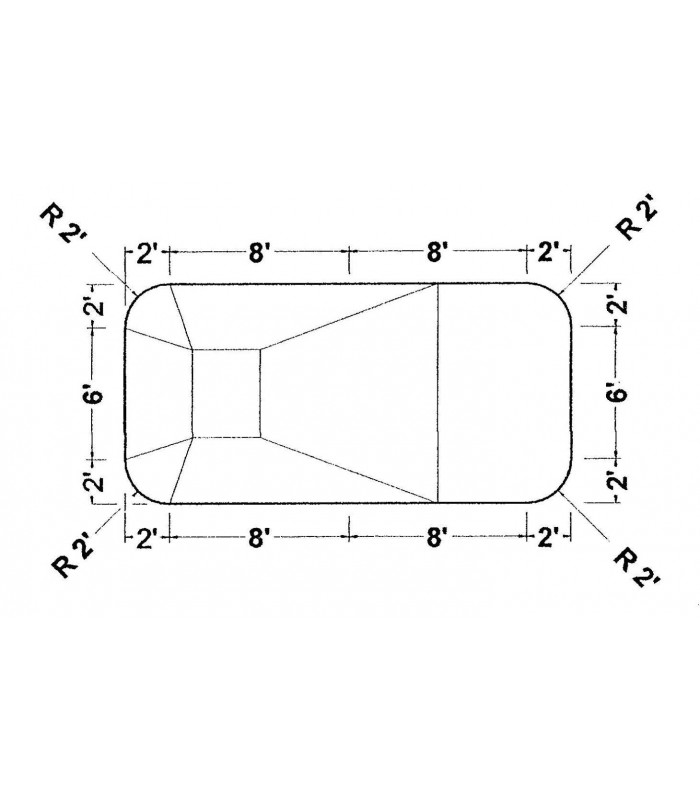 10 X 20 2 Ft Radius Rectangle Wood Wall Inground Pool Kit