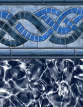 GLI Pool Products Destination Series InGround vinyl pool liners Aspen with Arctic liner pattern