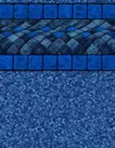 GLI Pool Products Destination Series InGround vinyl pool liners Blue Bali with Beach Pebble Blue liner pattern