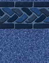 GLI Pool Products Signature Series Series InGround vinyl pool liners Blue Cabo with Beach Pebble Blue liner pattern