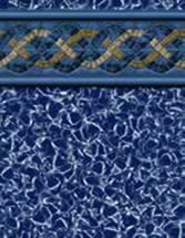 GLI Pool Products vinyl pool liners Blue Hampton with Aquarius liner pattern