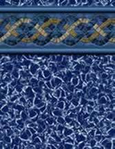 GLI Pool Products Destination Series InGround vinyl pool liners Blue Hampton with Aquarius liner pattern