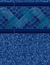 GLI Pool Products Destination Series InGround vinyl pool liners Blue Raliegh with Beach Pebble Blue liner pattern