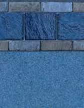 GLI Pool Products vinyl pool liners Bonito with Carribbean Blue liner pattern