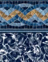 GLI Pool Products Destination Series InGround vinyl pool liners Carnegie with Arctic liner pattern