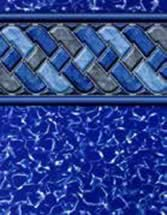 GLI Pool Products vinyl pool liners Cayman with Mystic Light Blue liner pattern
