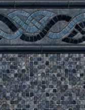 GLI Pool Products vinyl pool liners Durango with Mosaic Dark Gray liner pattern