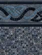 GLI Pool Products Destination Series InGround vinyl pool liners Durango with Mosaic Dark Gray liner pattern