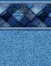 GLI Pool Products vinyl pool liners Madison with Blue Crystal liner pattern