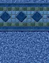 GLI Pool Products vinyl pool liners Malibu with Polynesian liner pattern