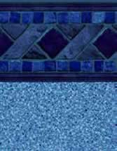 GLI Pool Products vinyl pool liners Marco Island with Blue Crystal liner pattern