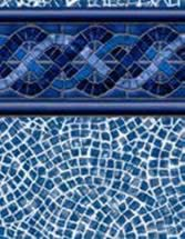 GLI Pool Products vinyl pool liners Midnight Ocean with Cobblestone liner pattern