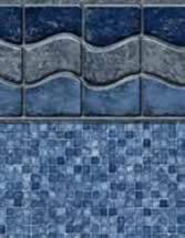 GLI Pool Products vinyl pool liners Ocean Beach with Mosaic Light Blue liner pattern