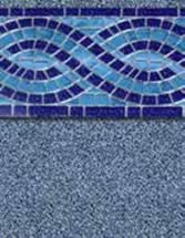 GLI Pool Products vinyl pool liners Riverside with Stone Brook liner pattern