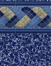 GLI Pool Products Destination Series InGround vinyl pool liners Rodeo with Aquarius liner pattern