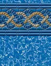 GLI Pool Products vinyl pool liners South Beach with Aurora liner pattern