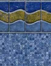 GLI Pool Products vinyl pool liners Sunset Beach with Mosaic Light Blue liner pattern