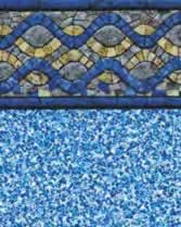 Latham Performance pool liners Chesapeake Wall Gemstone Bottom liner pattern