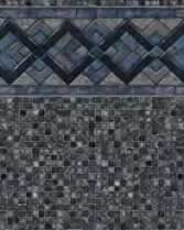 Latham Performance pool liners Cobalt Lake Wall Grey Mosaic Bottom liner pattern