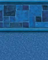 Latham Performance pool liners Courtstone Blue Wall Natural Blue Bottom liner pattern