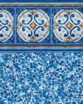 Latham Performance pool liners Hampton Wall Seaglass Bottom liner pattern